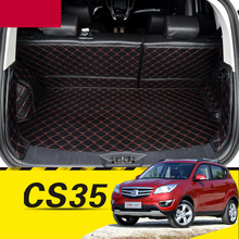 lsrtw2017 for changan cs35 leather car trunk mat cargo liner 2012 2013 2014 2015 2016 2017 interior accessories cover carpet