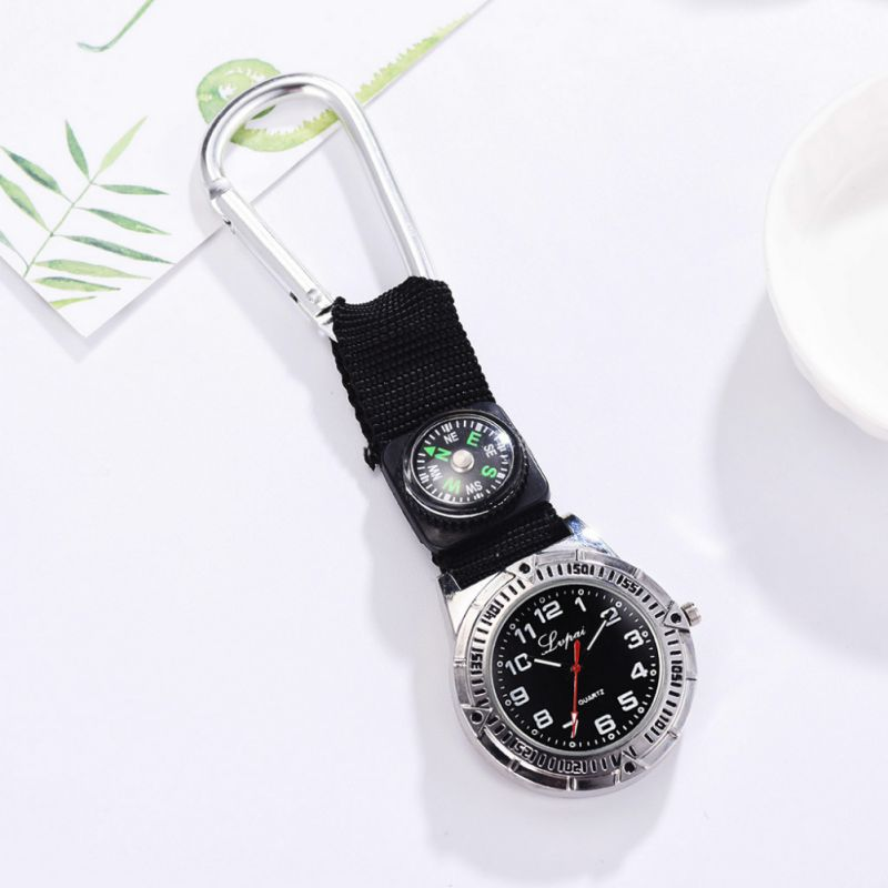 Многофункциональные спортивные часы с карабин с компасом клипсой карманные часы с пряжкой для походов на природе