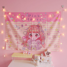 Sailor Moon pink cute Little Girl Printed Tapestry Art Wall Mounted Tapestry Bed Cover  Home Decor small tapestrys fairy washing