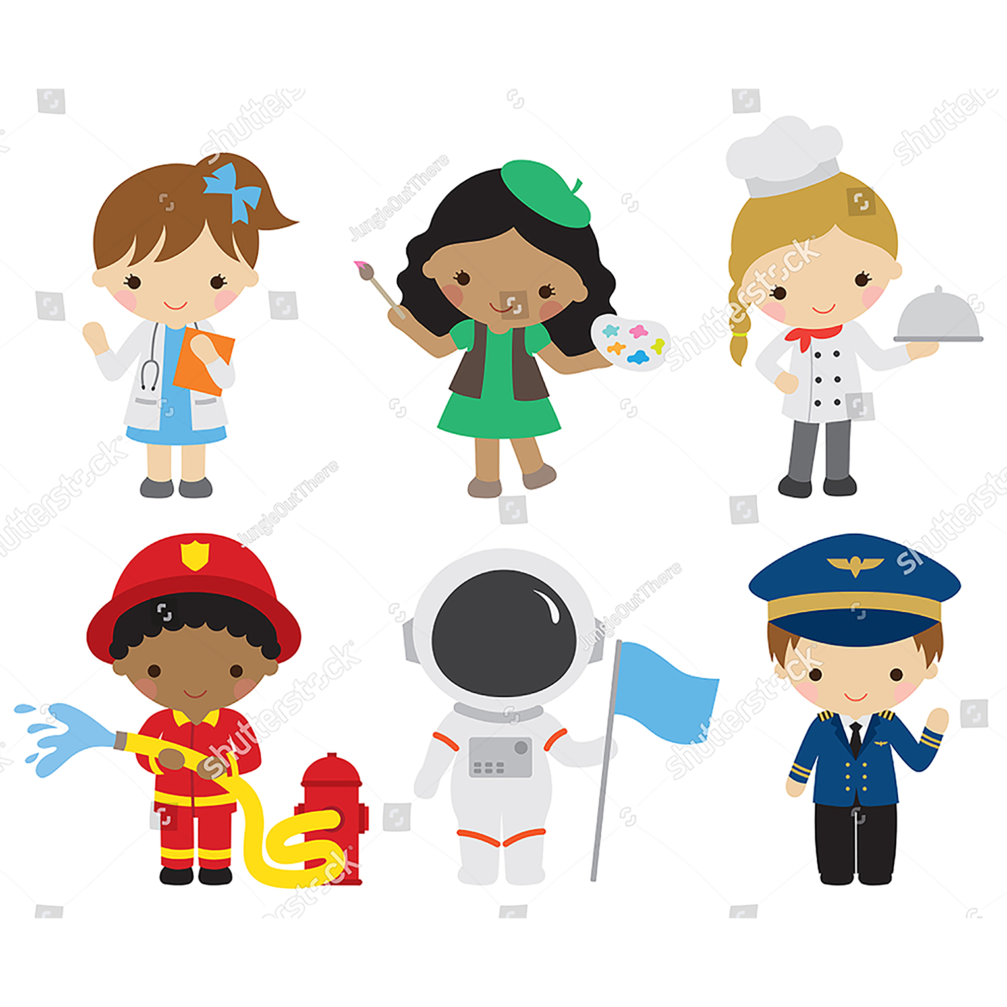 Hot Career Girls And Boy Metal Cutting Dies Lovely Princess Fireman Astronaut Police Doll Stencil Embossing For DIY Scrapbooking