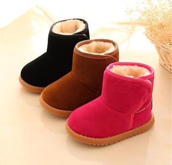 2019 KIDS Boys Girls Snow Boots Shoes Winter Warm Plush Inside Cow Muscle Sole Child For Baby