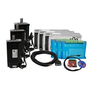 Image 3 - CNC close loop kit Nema 34 86HB250 156B 12Nm close loop servo Motor & HBS860H Hybrid servo driver+400w power supply for CNC