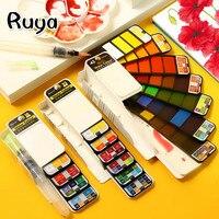 Superior 18/25/33/42 cores sólido aquarela pintura conjunto de água cor escova caneta pigmento para desenhar arte pintura suprimentos diy van gogh
