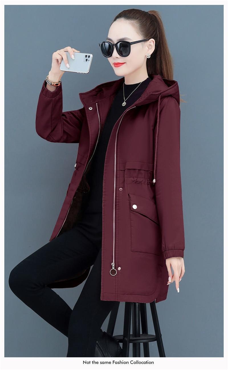 H64debdcf79664fb5a15b3a7329f8c167h NEW2021 Women Parkas Fashion Coat Elegant Winter Mid Long Cotton Jacket Plus velvet thickening Hooded Collar Female Snow Outwear