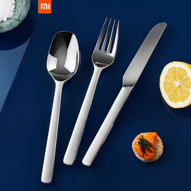 Original Xiaomi Mijia Stainless Steel Tableware Quality High-grade Steak Knives Spoon Fork Dinner Dinnerware Household Cutlery