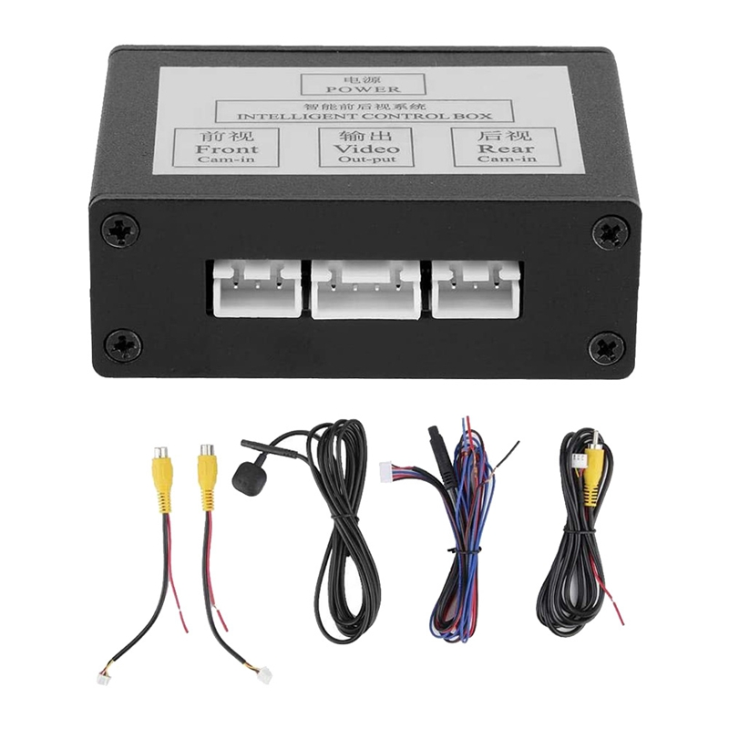 Car Front View Camera Switcher Parking Camera Converter Front Rear View Video Switch Channel Control Box