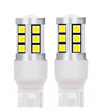 2 pièces T20 7440 W21W WY21W haute qualité 3030 LED Auto feux de freinage voiture DRL conduite lampe inverse ampoules clignotants jaune rouge blanc