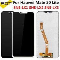 6.3 lcd lcd lcd para huawei companheiro 20 lite display lcd digitador da tela de toque SNE-LX1 SNE-LX3 display para huawei companheiro 20 lite lcd + quadro