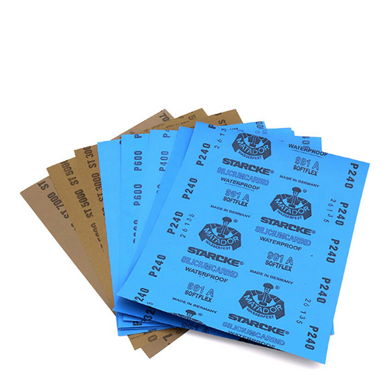 Wet And Dry Sandpaper 220 240 320 400 600 800 1000 1200 1500 2000 2500 3000 5000 7000 Grit Thickness 0.05mm For Polishing