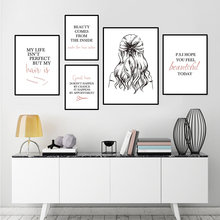 barbershop quote art posters hairstyle wall picture beauty canvas painting makeup home decor hair salon picture prints HD2822