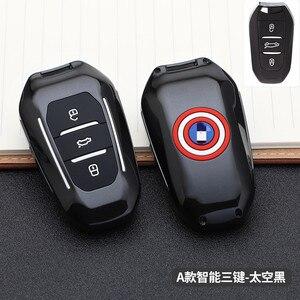 Image 5 - 2019 smart remote car key fob case cover for Peugeot 508 301 2008 3008 4008 407 408 Citroen C5 C6 C4L CACTUS C3XR DS Keychain