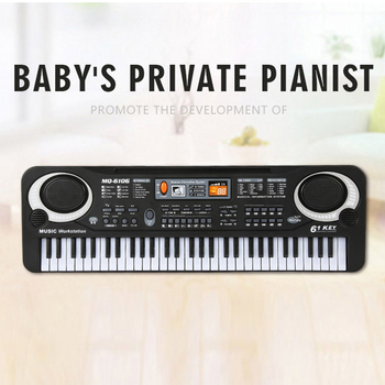 Musical Instruments Toys With Microphone Learning Educational Toys For Children Beginners Gifts 61 Keys Electronic Piano Toy electronic toys sound light walking robot dog robot toy educational toys for children musical lol electronic pet dog