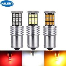Светодиодсветодиодный лампы CanBus S25 1156 BA15S P21w T20 7440 W21W 7443 4014 45smd 1157, без ошибок, Canbus, указатели поворота, стоп-сигналы, 12 В, 2 шт.