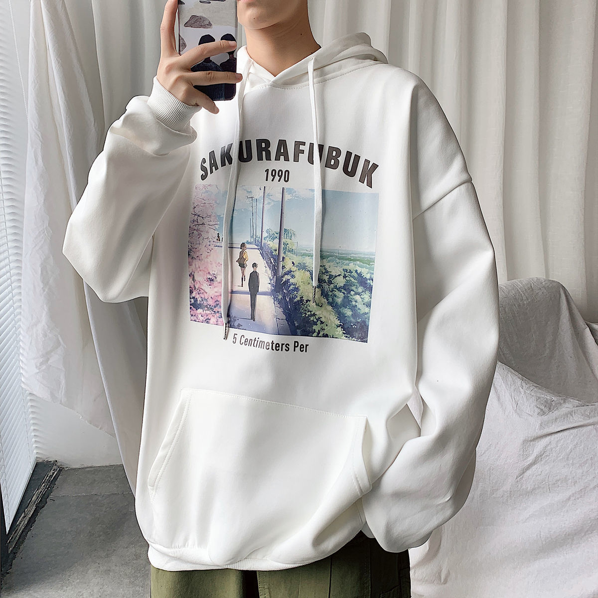 Privathinker Graphic Printed Solid Color Men Hoodies 2020 Autumn New Men's Hooded Sweatshirts Man Streetwear Casual Pullovers