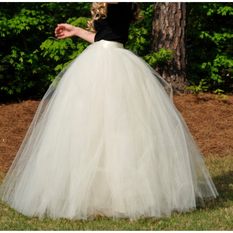 Best Ivory Puffy Ball Gown Skirt Near Me And Get Free Shipping A53