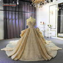 Luxury dubai wedding dress 100% real work