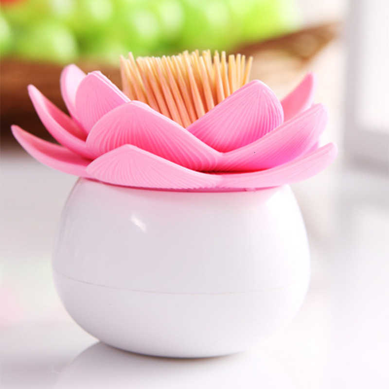 Lotus Cotton Stick Swab Toothpick Dispenser Holder Box Storage Box With Lid Fashion Simple