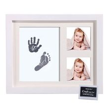Baby Footprint Kit Newborn Keepsakes Handprint Picture Frame with Safe and Non-Toxic Ink Pad Perfect Girls Boys Baby Gift