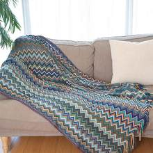 Bohemian Knitted Tassels Sofa Blanket Thread Couch Blanket Sleeping Rugs Soft Bed Plaid Vintage Home Decor Tapestry(China)