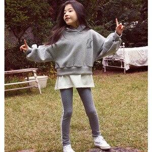 Image 3 - חדשה באיכות גבוהה אביב סתיו בני נוער בנות ספורט סט נקבה ילדים מקרית סוודר חליפת ילדי בגדי בני נוער אימוניות CA578