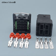 shhworldsea 4 Pin Female Male 6.3mm Auto Connector 6.3 Series Socket For VW With Terminals 357941165