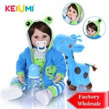 Популярная 18 дюймовая Кукла младенец KEIUMI, Мягкая тканевая кукла тело, Реалистичная кукла младенец, коллекционная кукла младенец для мальчиков, детей, игроков