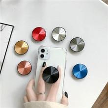 Metall Oberfläche Ausbau Telefon Halter Universal Finger Grip Halter Flexible Ständer Für smartphone CD Finger Ring Halterung halten