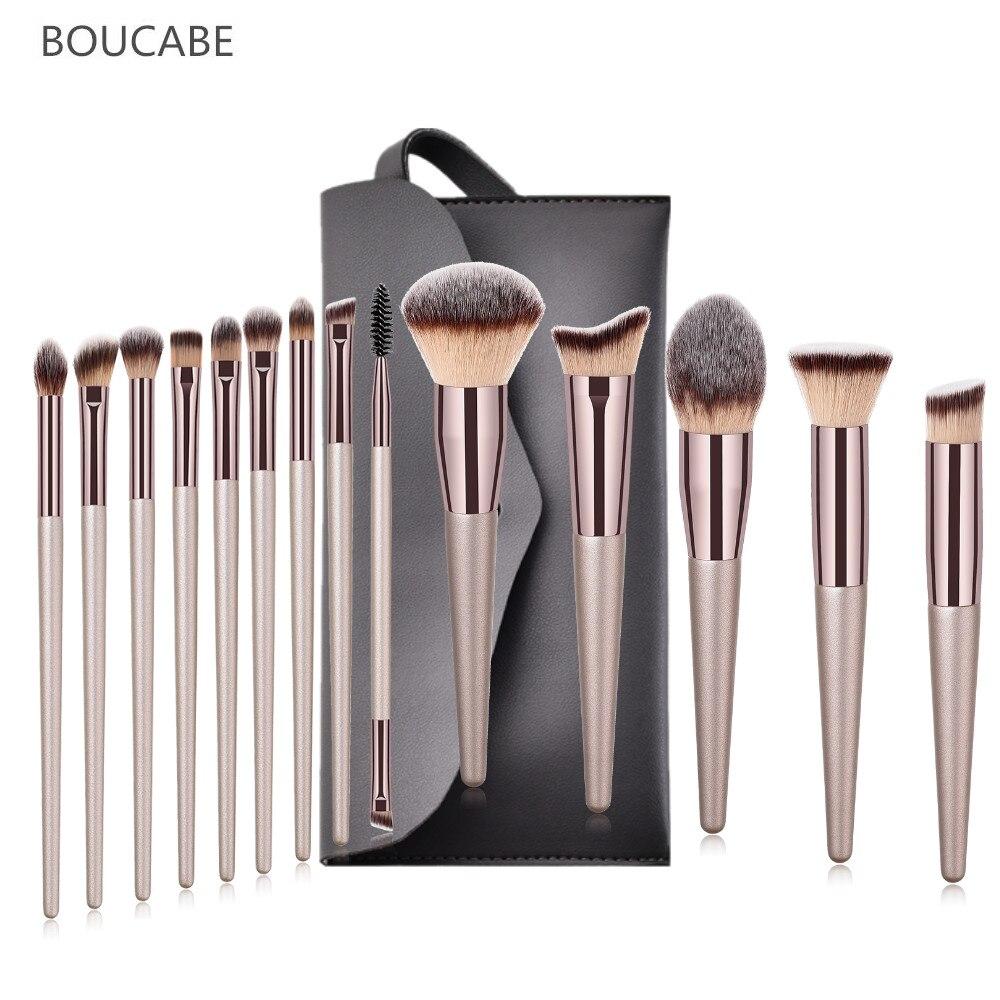 5/6/9/10/14pcs Makeup Brushes Set Professional Make Up Brush Foundation Eyeshadow Eyebrow Synthetic Hair Portable Cosmetic Bag