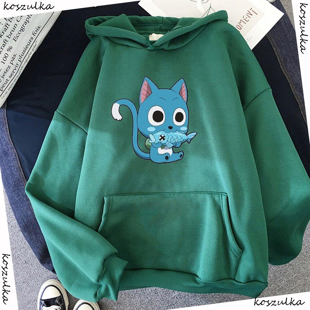 Japanese Anime Fairy Tail Hoodie Women Hoodies Casual Pullover Hoodied Harajuku Sweatshirt Plus Size Hoody 8