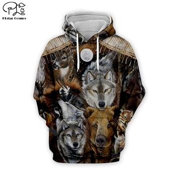Men indian native Wolfs Printed 3d hoodie harajuku sweatshirt zipper coat Unisex streetwear Jacket Tracksuit women pullover 17 men women indian native skull printed 3d hoodies harajuku sweatshirt zipper coat unisex streetwear jacket tracksuit pullover 10