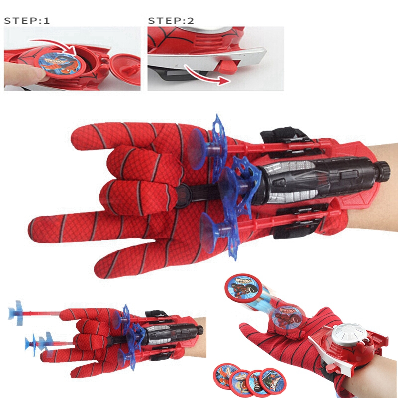 Super Hero New Spider Man Toys Children Spiderman Glove Launcher Set  Action Figure Cosplay Cool Gift Funny Toys For Boys