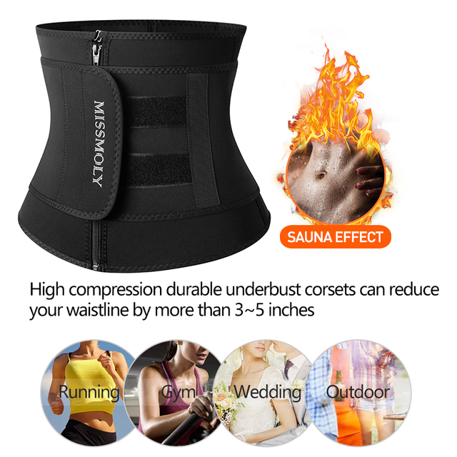 Neoprene Waist Trainer Corset Sauna Sweat Belt Slimming Body Shaper Abdominal Trimmer Shapewear Modeling Straps Weight Loss Faja 5