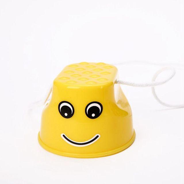 러닝 죽마 죽마 어린이 potholes 어린이 높은 피치 높은 배럴 죽마 실행 인형 플라스틱 (노란색)