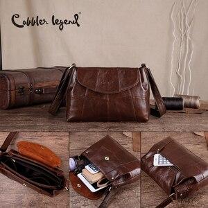 Image 5 - Cobbler Legend 2020 Genuine Leather Women Messenger/Crossbody Bag Ladies Small Shoulder Bags Vintage Female Cowhide Satchels