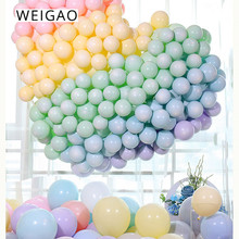 WEIGAO 100pcs Macaron Candy Unicorn Latex Balloons Party Balloon Wedding Birthday Party Christmas Baby Shower Party Supplies