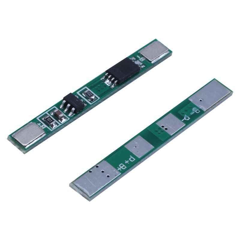 ABKK-10 pcs 1S 3.7V 4A ליתיום BMS PCM 18650 סוללה הגנת לוח PCB עבור 18650 ליתיום יון li סוללה כפולה MOS
