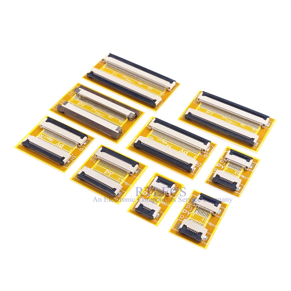Color: 14 Pin Calvas 1 pc Flexible Flat Cable FFC FPC Extension PCB Pitch 0.5 mm 6 P 8 10 12 14 16 20 22 24 26 30 32 36 40 45 50 54 60 Pin