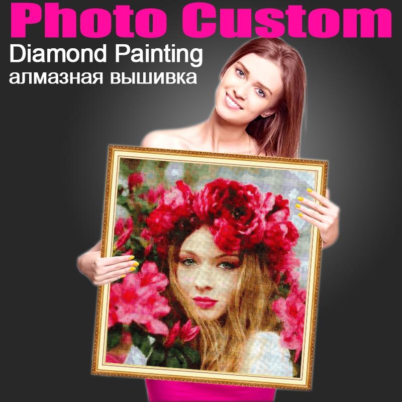 Miaodu DIY 5D Photo Custom Diamond Painting Cross Stitch Kit Full Square Round Drill Diamonds Embroidery Mosaic Art Love Gift