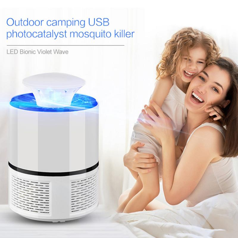 1PC USB Photocatalyst Mosquito Killer Lamp Anti Mosquito Trap Electric Mosquito Lamp Home Camping Mosquitos Killer Insect Trap