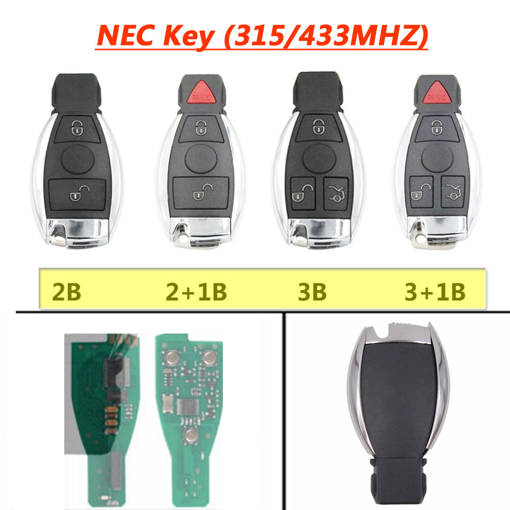 3 Button <font><b>Remote</b></font> NEC <font><b>Key</b></font> for Mercedes Benz <font><b>W211</b></font> 4MATIC CDI E200 E220 E230 E240 E270 E280 E320 E350 E400 E500 E550 image