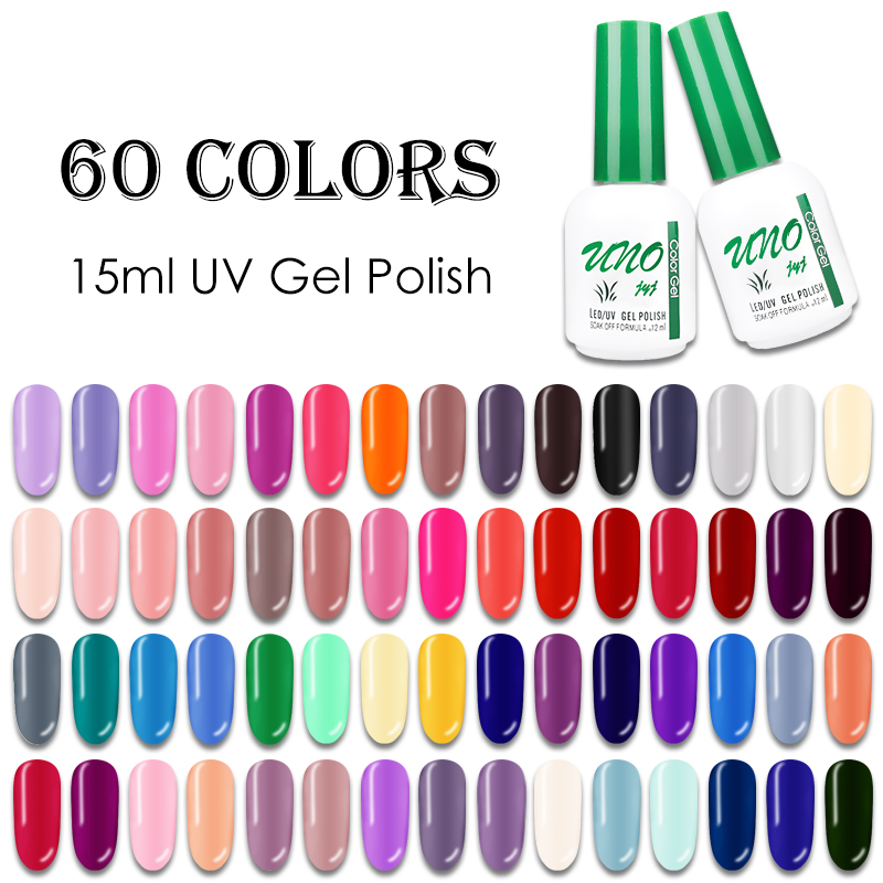 Soak Off 12ml Color Gel Polish Manicure UV Gellak Semipermanent Nail Polish Varnish Hybrid 60 Colors New Arrive Enamel For Nails