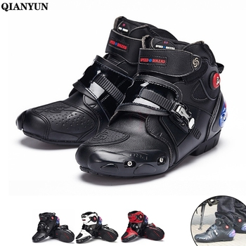 Unisex Motocross Boots Microfiber Racing Shoes Anticollision Anti-skid Motorcycle Boot Protective Motorbike Equipment All Season