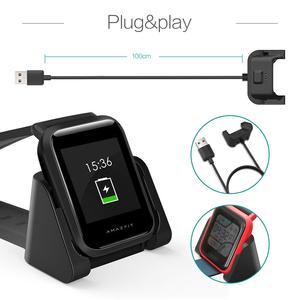 Сменное магнитное зарядное устройство USB для Xiaomi Huami Amazfit Bip Youth A1608 Model Smartwatch, зарядное устройство с кабелем для быстрой зарядки