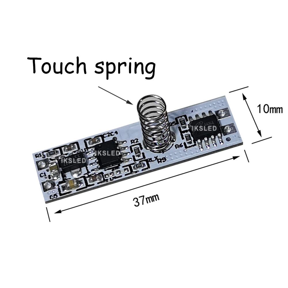 С регулируемой яркостью 3,7 ~ 24V 10A емкостный сенсорный экран Сенсор переключатель спиральной пружины переключатель выключатели со светодиод...