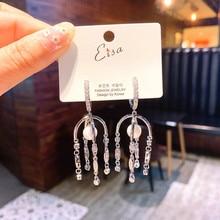 2019 Korean Sweety Lovely Style Drop Earrings Fashion Women Irregular Long Earrings Female Dangle Geometric Drop Earrings Gift цена и фото