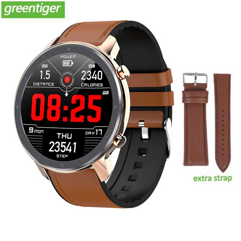 Greentiger L11 montre intelligente hommes ECG + PPG fréquence cardiaque tensiomètre IP68 étanche météo Smartwatch VS DT78 L5 L8 L7