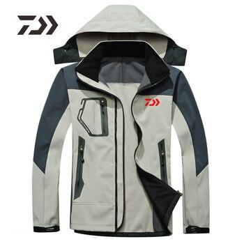 Daiwa2019 Nowa Kurtka Wędkarska Jesienno-zimowa Polarowa Ciepła Turystyka Camping Odzież Wędkarska Mężczyźni Wodoodporna Bluza DAWA Koszula Wędkarska