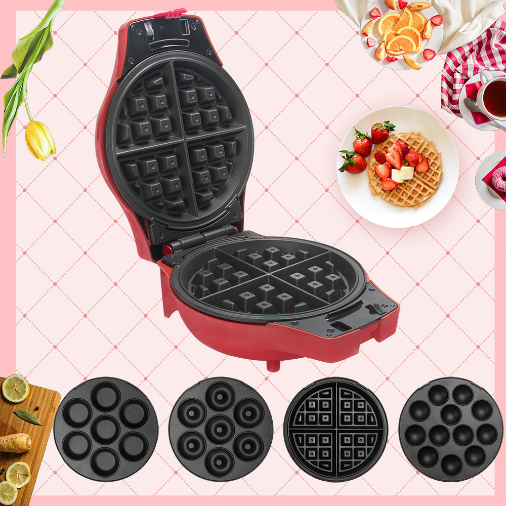 Four-In-One Multi-Function Electric Baking Pan Breakfast Machine Sandwich Waffle Machine Pancake Machine Cake Machine Egg Roll