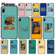 Van Gogh The Starry Night Sunflowerluxury Mobile Case For Iphone 5s Se 6 6s 7 8 Plus X Xs Max Xr 11 Pro Max phone cover silicone phone case for iphone 8 7 6 6s plus x xr xs max soft tpu van gogh starry night cover for apple iphone 11 pro max coque