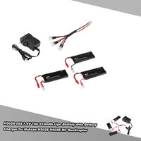 3pcs H502S 002 7.4V 15C 610mAh Lipo Batteries with 3 in 1 Battery Charger for Hubsan X4 H502S H502E RC Quadcopter